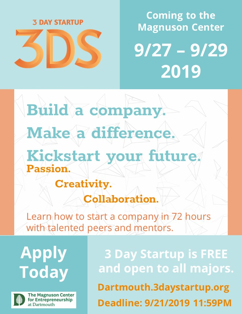 3DS Dartmouth Program Promotions 20190814-Final-Poster